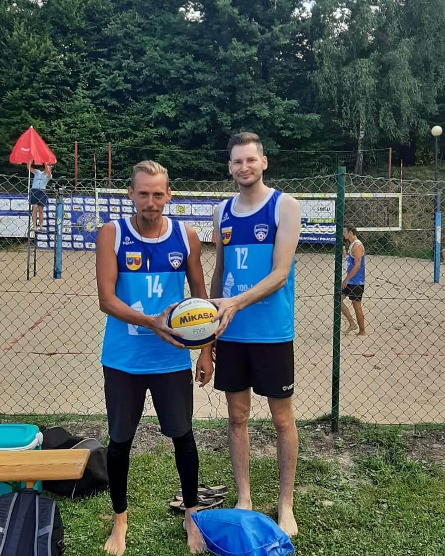 Debiut naszego zespołu w Mistrzostwach Śląska w siatkówce plażowej mężczyzn